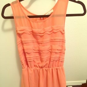 Cute Lush Peach sundress. Perfect for warm weather
